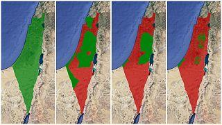 حدود فلسطين والأراضي الفلسطينية منذ ما قبل عام 1948 حتى الآن