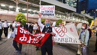 تظاهرات علیه برگزاری مسابقات المپیک در توکیو