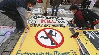 Proteste gegen Olympischen Spiele in Japan