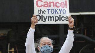 Διαδήλωση κατά των Ολυμπιακών του Τόκιο