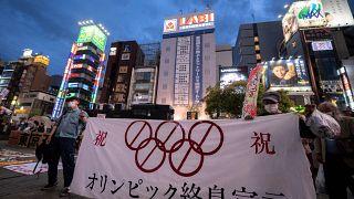 Kundgebung gegen Olympia
