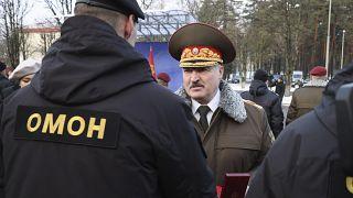 Александр Лукашенко на встрече с сотрудниками ОМОНа. Минск, декабрь 2020 года.