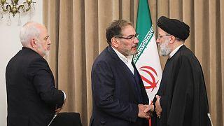 ابراهیم رئيسی، علی شمخانی و جواد ظریف