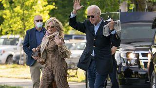 US President Joe Biden with first lady Jill Biden