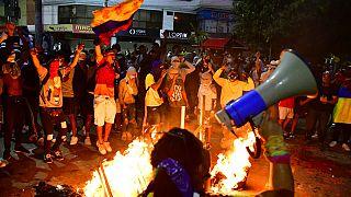 Manifestación en Bogotá, Colombia