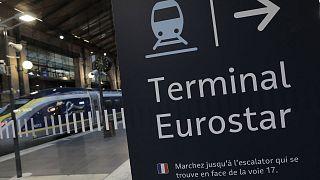 Archives : une rame d'Eurostar en gare du Nord, à Paris, le 21 décembre 2020
