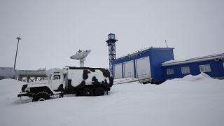 """Российская военная база """"Арктический трилистник"""" в Нагурском, май 2021 года"""