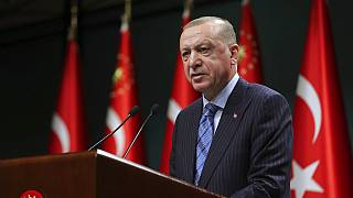 Der türkische Präsident Recep Tayyip Erdogan spricht nach einem Kabinettstreffen in Ankara, 17.05.2021
