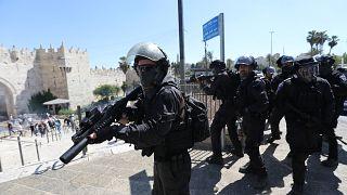 İsrail polisinin Filistinlilere müdahalesi
