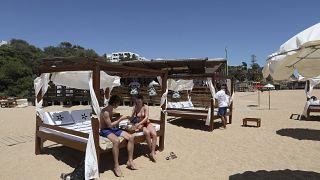 На португальском пляже