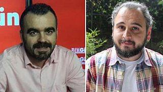 Birgün gazetesi çalışanı Mahir Kanaat ve Diken haber editörü Tunca Öğreten
