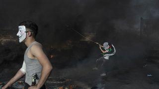 اشتباكات في متظاهرين فلسطينيين والشرطة الإسرائيلية في الضفة الغربية