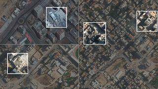 أبراج سكنية وتجارية قصفتها إسرائيل منذ بداية تصعيد حملتها العسكرية على قطاع غزة