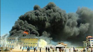 Massive factory fire