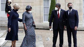 Presidente angolano, João Lourenço recebido pelo Presidente francês, Emmanuel Macron