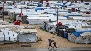 مخيم روج للاجئين السوريين في محافظة الحكسة شمال شرق سوريا. 03/04/2021