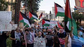 No comment: az izraeli légicsapások ellen tüntettek a világ több pontján