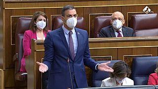 Pedro Sánchez durante la sesión de control en el Congreso