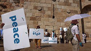 Manifestation pour la paix en Israéliens et Palestiniens, organisée à Jérusalem, le 19/05/2021