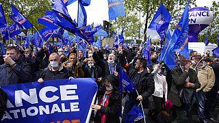 Manifestation des policiers à Paris le 19 mai 2021.