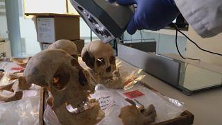 Etudes scientifiques menées à l'Université de Grenade (Espagne) pour tenter de déterminer l'origine de Christophe Colomb - photo prise le 19/05/2021
