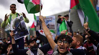 Une manifestation pro-palestinienne à Bruxelles