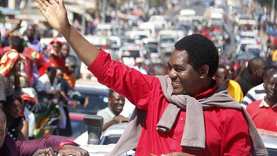 Zambia opposition leader Hichilema cleared to run for president