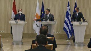Kıbrıs Rum Kesimi, Yunanistan ve Mısır liderleri (arşiv)