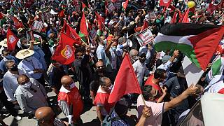 Tunisia: Thousands march in support of Palestinians