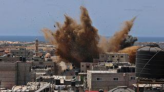 قصف إسرائيلي استهدف رفح في قطاع غزة