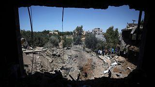 تخریب منازل مسکونی در حملات اسرائیل به غزه