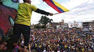 Manifestación en Cali, Colombia