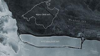 Antarktika'da kopan buzul kütlesi