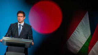 Gulyás Gergely Miniszterelnökségért felelős miniszter kormányinfót tart