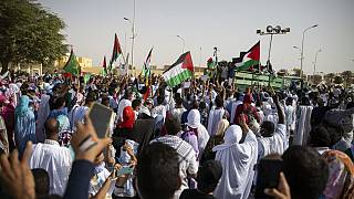 Mauritanians denounce Gaza 'massacre' as hostilities continue