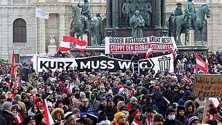 Protest gegen Corona-Regeln in Wien im Januar 2021