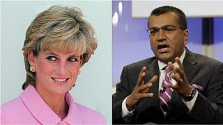 Princess Diana and former BBC journalist Martin Bashir