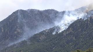 Greek villages evacuated as forest fire rages