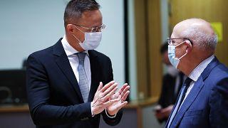 Szijjártó Péter magyar külügyminiszter az EU külkereskedelemért felelős minisztereinek találkozóján
