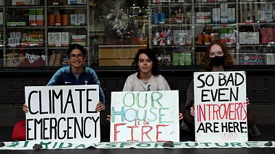 Young activists strike for the current emergency facing our climate