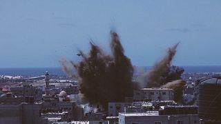 تصاویری از حملات اسرائیل به شهر رفح غزه در یازدهمین روز جنگ
