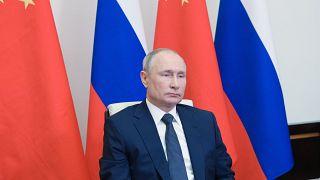 Putyin a Moszkva melletti Novo-Ogarjovóban lévő elnöki rezidencián 2021. május 19-én.