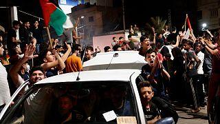 الاحتفالات تعم غزة بعد إعلان وقف إطلاق النار، فجر الجمعة 21 مايو 2021