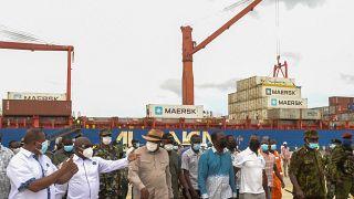 Kenya's President Kenyatta inaugurates deep water port in Lamu