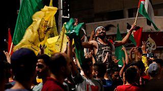 شادی ساکنان نوار غزه پس از برقراری آتشبس