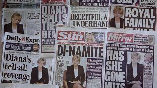 BBC'nin Prenses Diana röportajıyla ilgili İngiliz basınında çıkan haberler
