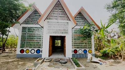 Library for orphaned children in Yangon, Myanmar.  Picture taken on January 29, 2021