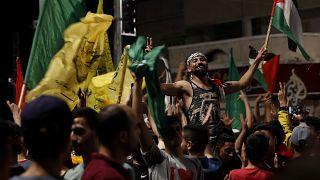 Gazze'de kutlamalar