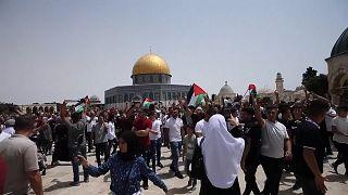 تصاویر درگیری فلسطینیها و پلیس اسرائیل در مسجدالاقصی ساعاتی پس از آتشبس