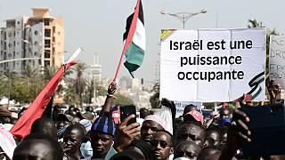 Protesters in Dakar express solidarity with Palestinians